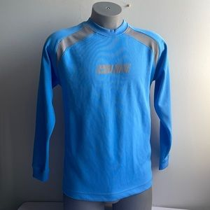 Nike Blue Long Sleeve Athletic Top Small